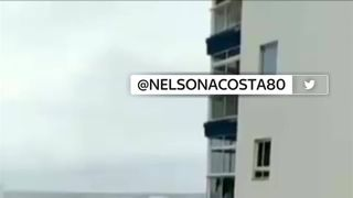 Enormous waves are battering buildings on the north coast of Tenerife, the largest of the Canary Islands.