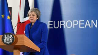 Prime Minister Theresa May attends a news conference after an extraordinary EU leaders summit to finalise and formalise the Brexit agreement in Brussels, Belgium November 25, 2018.
