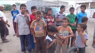 Children hoping for peace in rebel held Hodeda, Yemen