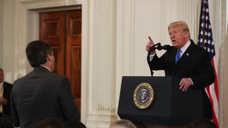 Donald Trump clashed with CNN journalist Jim Acosta
