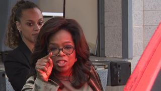 Oprah Winfrey surprises voters on campaign trail
