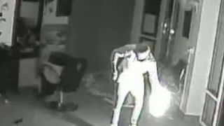 Police seek arsonist seen on CCTV catching own arm alight