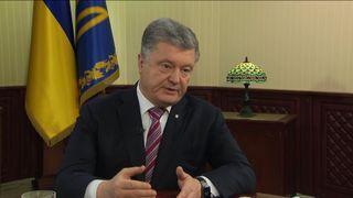 Poroshenko showed Sky News documents showing tanks massing on the border