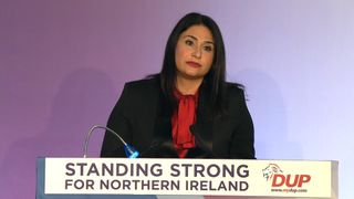 "Government minister from Gibraltar  Samantha Sacramento has told the DUP conference that the British territory ""will not fold"" in the face of Spain's Brexit demands."