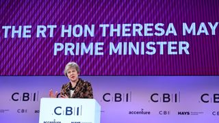Theresa May told the CBI her draft deal will 'work for the UK'