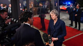Theresa May speaks to Sky's Faisal Islam