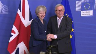 Theresa May and Jean-Claude Juncker meet for talks in Brussels ahead of a crunch EU summit.