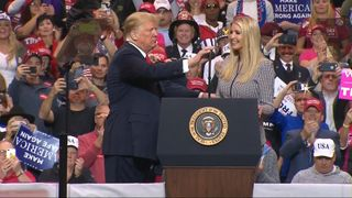 "President Trump introduces Ivanka, calling her ""really smart"" and says ""it's politically incorrect"" to call a woman beautiful."