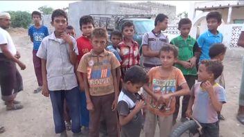 Children hoping for peace in rebel held Hodeda, Yemen