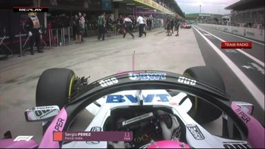Near miss for F1 cameraman