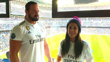 Bayley and McIntyre cheer on Real Madrid