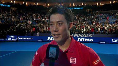 Nishikori: It's never easy playing my idol!