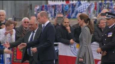 Royals pay respects at Leicester