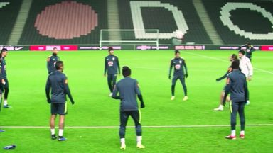 Brazil train at MK Dons