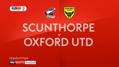 Scunthorpe 3-3 Oxford Utd