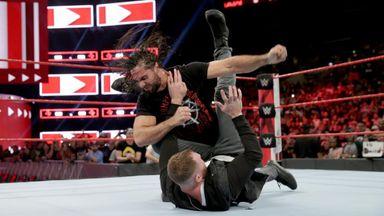 Seth Rollins attacks Dean Ambrose