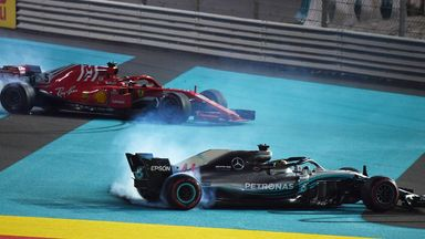 Hamilton, Vettel, Alonso do doughnuts