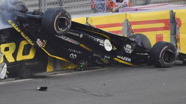 Horror crash for Hulkenberg