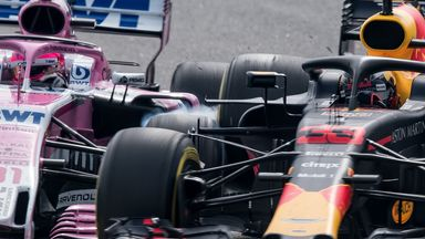 Verstappen and Ocon collide!