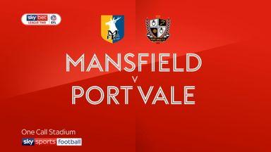 Mansfield 1-0 Port Vale