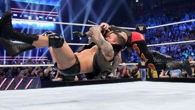 Orton hits an RKO on Mysterio!