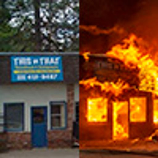 Before and after the wildfires