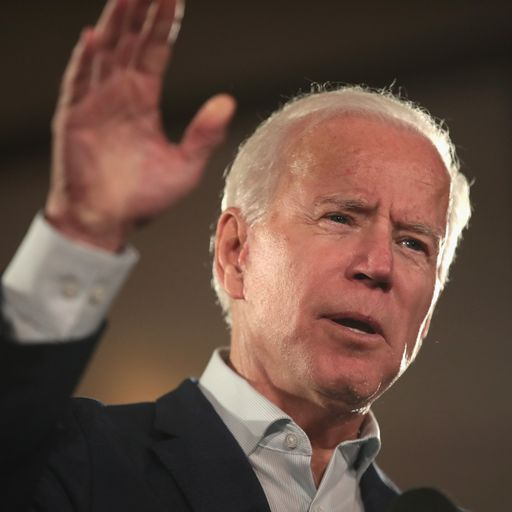 Joe Biden says he's running for president - then corrects himself