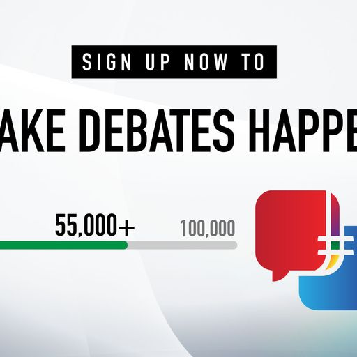 Sign up to leaders' debate campaign