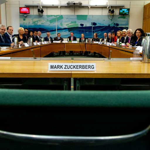 MPs leave empty chair for Facebook boss Mark Zuckerberg at fake news inquiry