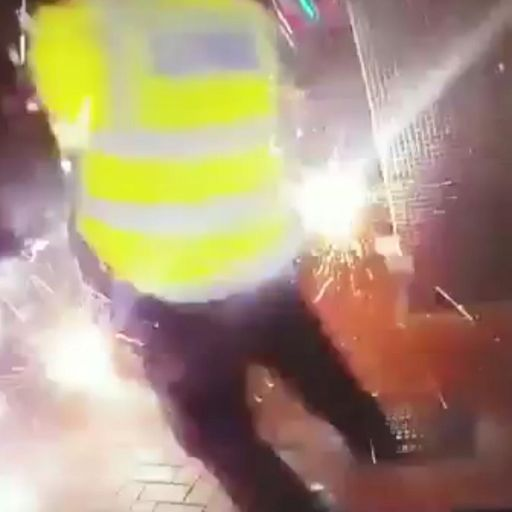 Fireworks thrown at police and firefighters on Halloween