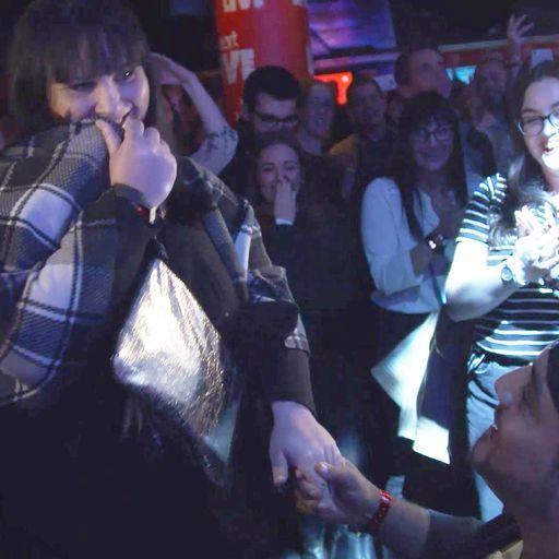 Ed Sheeran stops show to help fan propose