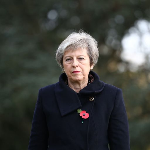 Theresa May's convoy accident interrupts Armistice Day trip