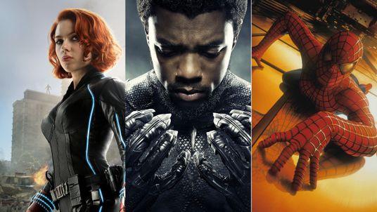 Stan Lee Marvel creations - Black Widow, Black Panther, Spider-Man