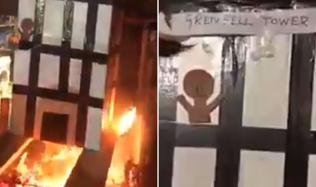 Man charged over video of burning cardboard model of Grenfell Tower