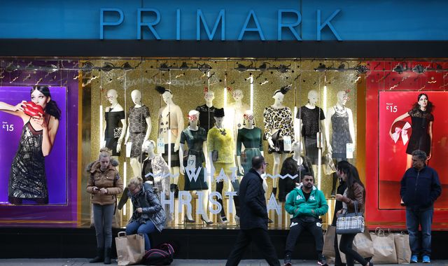 Primark cheered by Christmas trading that exceeded its expectations