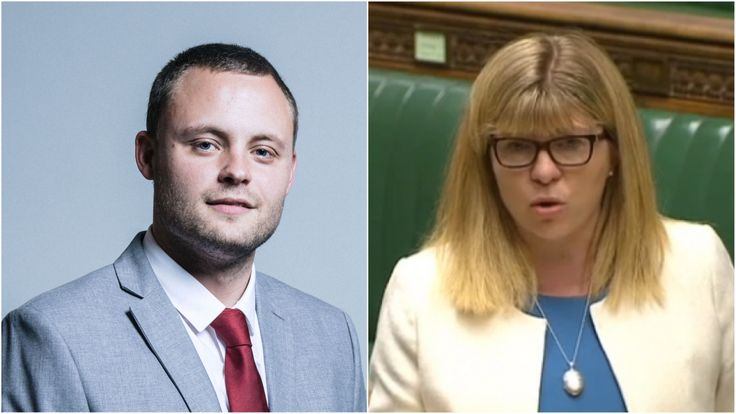 Tory MPs Ben Bradley and Maria Caulfield, who resigned as Tory vice-chairs over Brexit