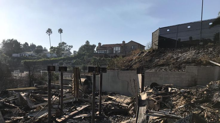 A destroyed mansion in Malibu