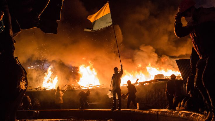 Anti-government protests continued for months in Kiev's Maidan Square