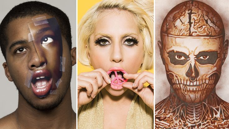 L-R: Artwork by Metra-Jeanson; Lady Gaga by Derrick Santini; Portrait of Zombie Boy by Mason Storm