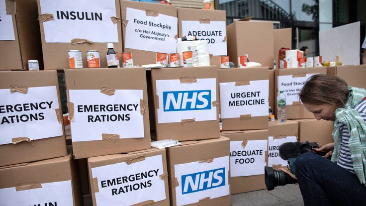 An NHS 'stockpile' to highlight concerns over a 'no-deal Brexit,