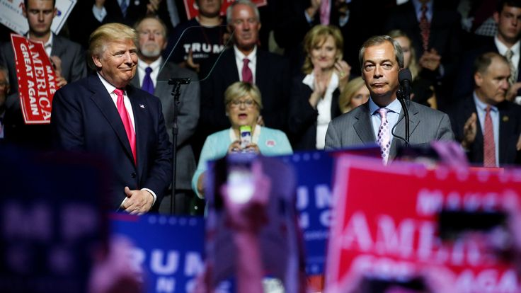 It is not know if Nigel Farage influenced Mr Trump's comments, but the Brexiteer said he is 'very well connected' in Washington