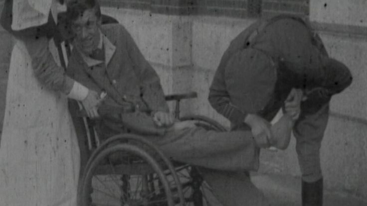 Percy survived the war, but he had suffered severe shell shock as a result of the constant bombardment in the trenches which left him paralysed.