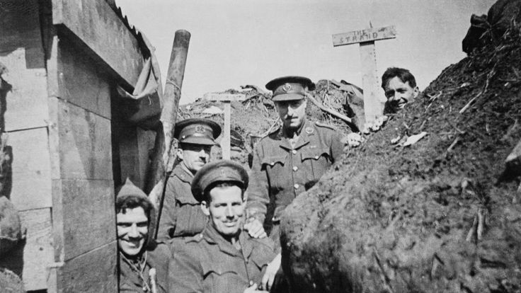 British officers on the Western Front