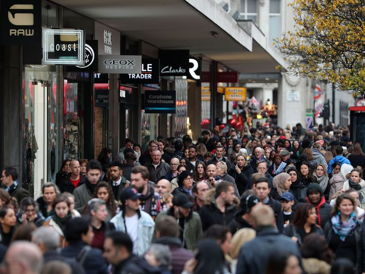 Black Friday encourages shoppers to flock to the high street and pick up bargains