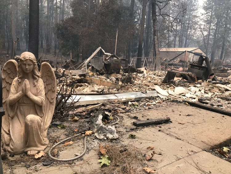 The devastating fires have killed dozens