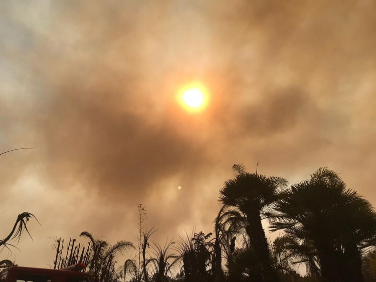 Malibu hit by fires that burst alive without warning