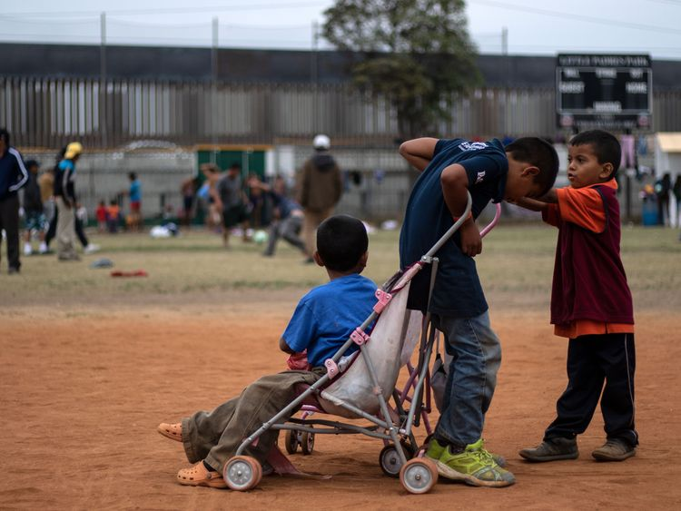 A high proportion of the migrants are children