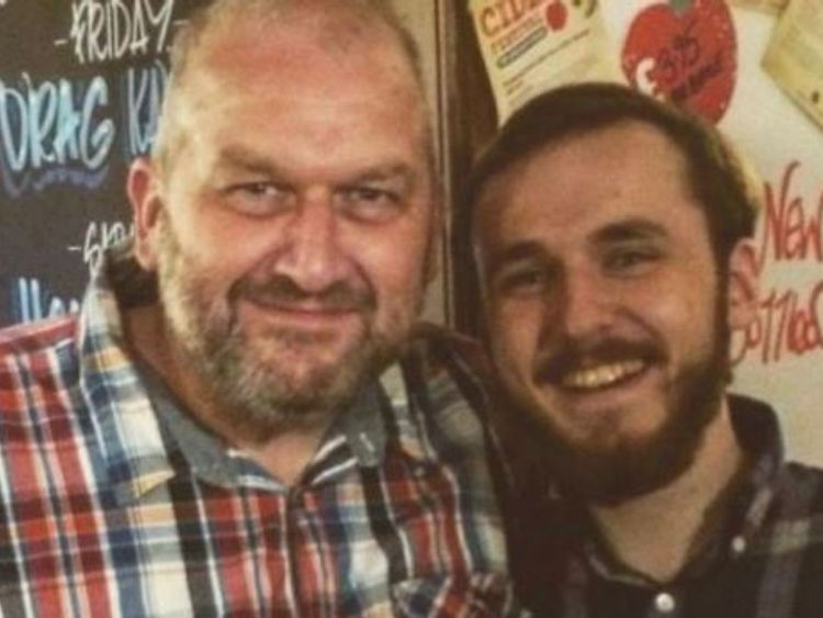 Carl Sargeant, left, with his son Jack