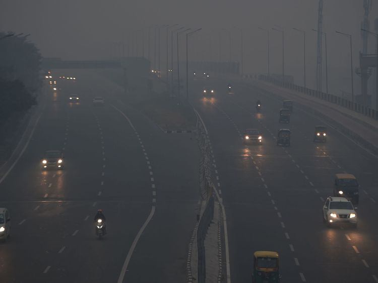 Commuters are having to deal with poor visibility