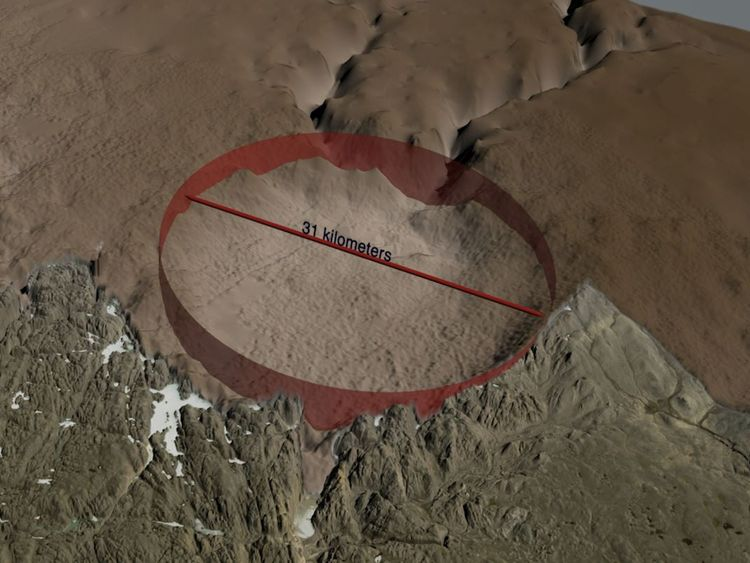 Meteorite Crater Discovered Under Greenland Ice